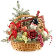 Basket for the New Year - flowers and bouquets on flora.od.ua