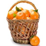 Basket with tangerines - flowers and bouquets on flora.od.ua