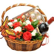 Basket with flowers and sweets - flowers and bouquets on flora.od.ua