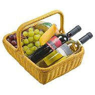 Basket with wine and grapes - flowers and bouquets on flora.od.ua