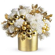 Beautiful New Years composition - flowers and bouquets on flora.od.ua