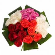 Beautiful bouquet of 25 roses - flowers and bouquets on flora.od.ua