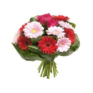 Beautiful bouquet of roses and gerberas - flowers and bouquets on flora.od.ua