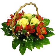 Small basket of flowers - flowers and bouquets on flora.od.ua