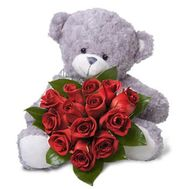 Bear with roses - flowers and bouquets on flora.od.ua