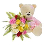 Teddy bear with flowers - flowers and bouquets on flora.od.ua