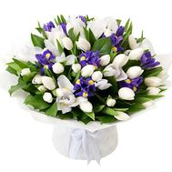 Delicate bouquet with irises - flowers and bouquets on flora.od.ua