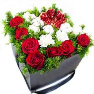 New Year composition with pomegranate - flowers and bouquets on flora.od.ua