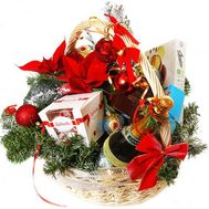 New Year gift basket - flowers and bouquets on flora.od.ua