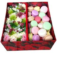 """A huge box with Macarons"" in the online flower shop flora.od.ua"