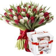 """A huge bouquet of 101 tulips"" in the online flower shop flora.od.ua"