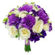 Оригинальный букет с гвоздиками - цветы и букеты на flora.od.ua