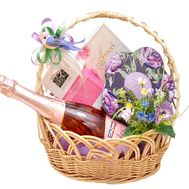 Gift basket with champagne - flowers and bouquets on flora.od.ua