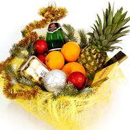 Різдвяна кошик фруктів - цветы и букеты на flora.od.ua