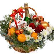 Різдвяна подарункова корзинка - цветы и букеты на flora.od.ua