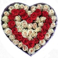 roses in the box heart - flowers and bouquets on flora.od.ua