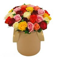 roses in a Hat Box - flowers and bouquets on flora.od.ua