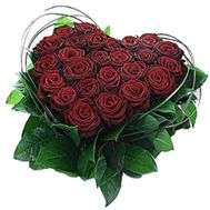 Heart of 25 red roses - flowers and bouquets on flora.od.ua