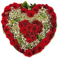 Heart of 39 roses - flowers and bouquets on flora.od.ua