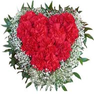 Heart of carnations - flowers and bouquets on flora.od.ua