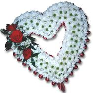 Heart from chrysanthemums - flowers and bouquets on flora.od.ua