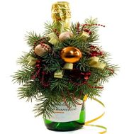Champagne for the New Year - flowers and bouquets on flora.od.ua