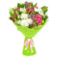 """Chic flowers happy birthday"" in the online flower shop flora.od.ua"