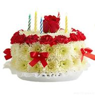 """Cake of flowers"" in the online flower shop flora.od.ua"