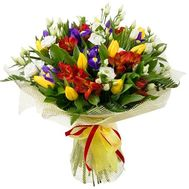 Spring bouquet with irises - flowers and bouquets on flora.od.ua