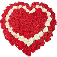 """101 roses heart"" in the online flower shop flora.od.ua"
