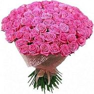101 pink roses 70 centimeters - flowers and bouquets on flora.od.ua