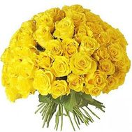101 yellow roses 60 cm - flowers and bouquets on flora.od.ua