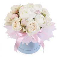 15 white peonies in a box - flowers and bouquets on flora.od.ua
