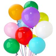 15 bright multi-colored balloons. - flowers and bouquets on flora.od.ua