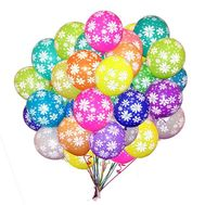 25 helium balls with a pattern - flowers and bouquets on flora.od.ua