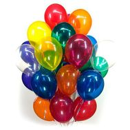 25 multi-colored balloons - flowers and bouquets on flora.od.ua