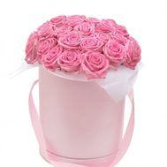 25 рожевих троянд у коробці - цветы и букеты на flora.od.ua