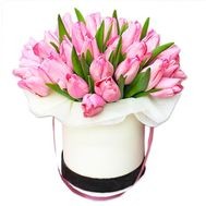 25 tulips in a box - flowers and bouquets on flora.od.ua