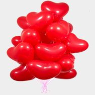 25 balloons in the shape of heart - flowers and bouquets on flora.od.ua