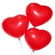 3 balloons in the shape of heart - flowers and bouquets on flora.od.ua