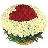 301 roses in the basket - flowers and bouquets on flora.od.ua