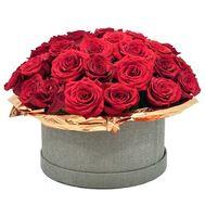 45 роз в коробке - цветы и букеты на flora.od.ua