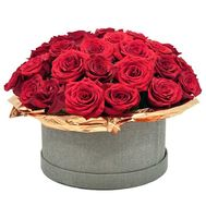 45 троянд в коробці - цветы и букеты на flora.od.ua