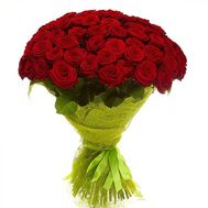 """51 red roses 60 cm"" in the online flower shop flora.od.ua"
