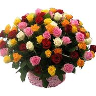 75 multi-colored roses - flowers and bouquets on flora.od.ua