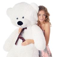 White bear 1.2 m - flowers and bouquets on flora.od.ua