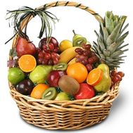Large basket of fruit - flowers and bouquets on flora.od.ua