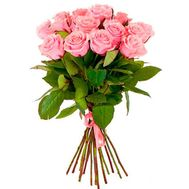 Bouquet of 13 pink roses - flowers and bouquets on flora.od.ua