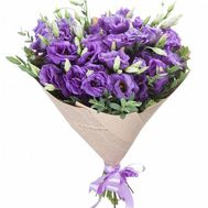A bouquet of 15 purple eustoms - flowers and bouquets on flora.od.ua