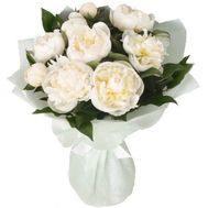 Bouquet of 11 white peonies - flowers and bouquets on flora.od.ua